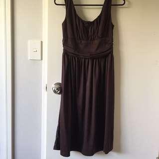 Shanton Brown Midi-Dress