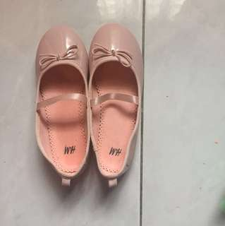 H&M Girls Shoes in Dusty Pink