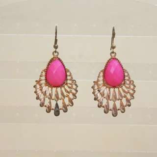 ANTING / EARRINGS PINK GOLD