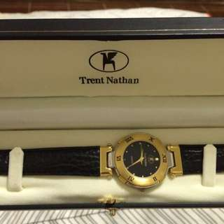 90's Vintage Trent Nathan Gold Watch