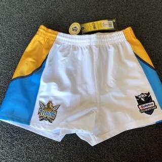 Unisex NRL Titans Shorts Size 14