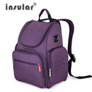 FREE POSTAGE!! INSULAR lightweight multi-functional diaper bag