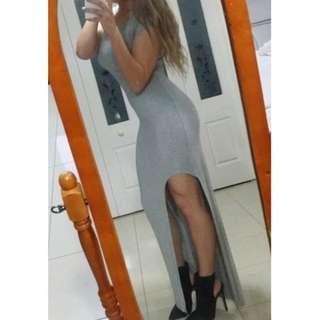 Grey Bardot Maxi