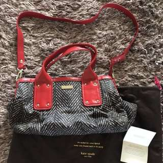 Authentic Kate Spade Bag (fabric w/leather trim)