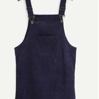 Blue overalls dress skirt pinafore