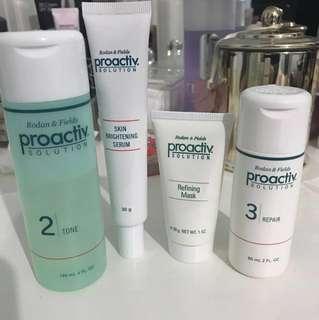 PROACTIVE set - toner, repair balm, refining mask, skin brightening serum