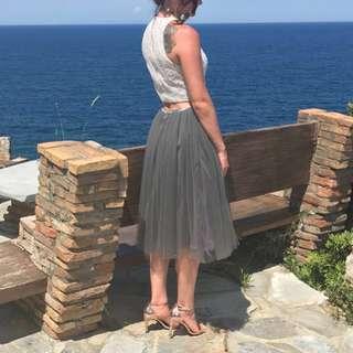 Grey Tulle Skirt - Custom Made, Rare Find!