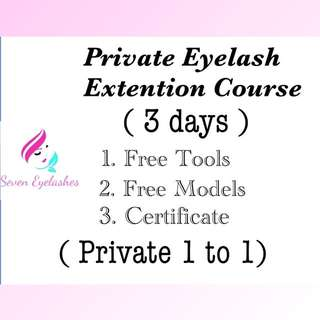Intensive Eyelash Extention Course