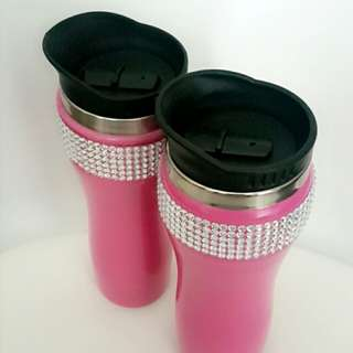 Stainless steel coffee cups pink