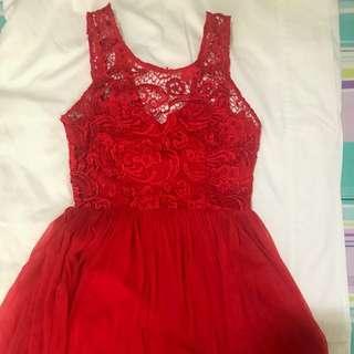 Lipsy London Red Dress