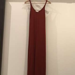 Babaton burnt red maxi dress