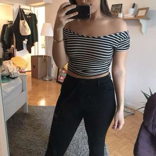Striped crop FREE with purchase of another item