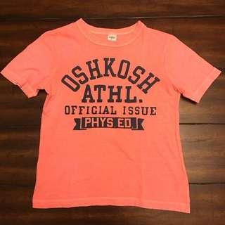 Osh Kosh Neon Orange Varsity T-shirt sz 4T