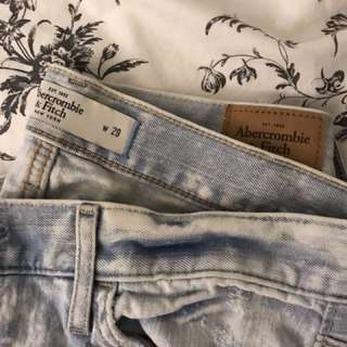 Abercrombie destroyed jeans
