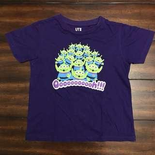Uniqlo Toy Story Purple T-Shirt sz 120 (3-4yrs old)
