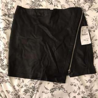 Zara faux leather skirt BNWT