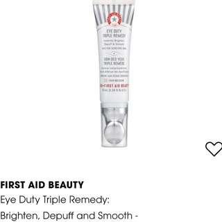 FIRST AID BEAUTY Eye Duty Triple Remedy: Brighten, Depuff and Smooth -Fair/Medium