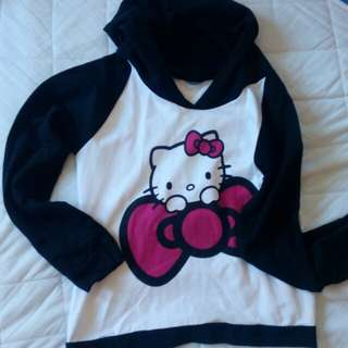 Hello Kitty Sweat Shirt with Hood Small