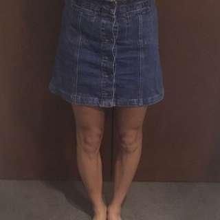 Topshop High Waisted Moto Skirt