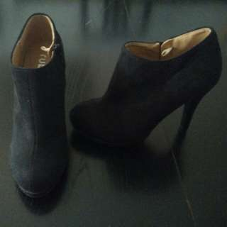Rubi Shoes Black Heeled Ankle Boots