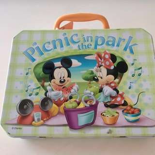 Disney Mickey & Minnie Tin Boxes with handle