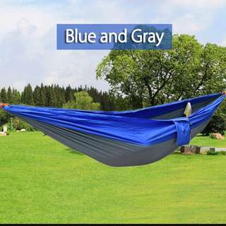 2 Person Assorted Color Portable Parachute Nylon Fabric Hammock for Indoor Outdoor Use - intl