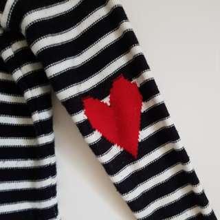 heart elbow sweater