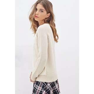 BNWOT H&M Natural Sweater