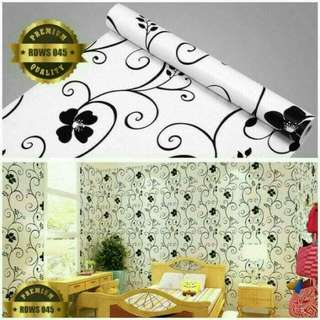 Wallpaper sticker import motif bunga