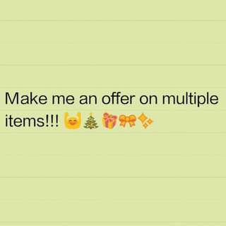 MAKE ME AN OFFER 🎄