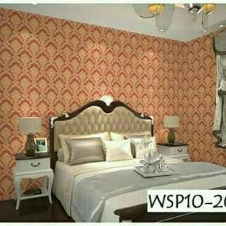 Wallpaper sticker motif batik mewah
