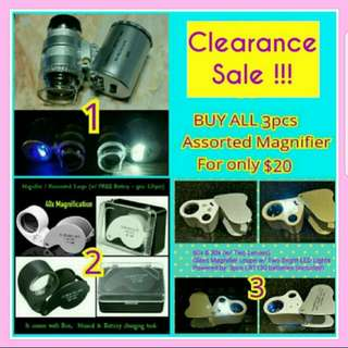 Clearance Sale!!! Magnifying Loupe (Free Normal Mail / Postage)