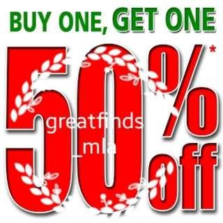 December Sale! Buy 1, Get 1 at 50% off!