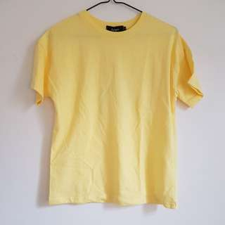 short sleeve yellow shirt BNWT