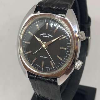 ⏰ Vintage Rare 1960s Favre-Leuba Sea Bird alarm Watch