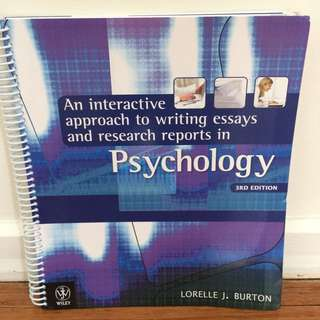 An Interactive Approach to Writing Essays and Research Reports in Psychology - 3rd Edition