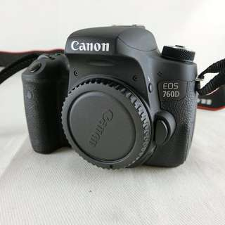 Canon EOS 760D BODY 盒裝公司貨 無原充 無原電 過保 快門數4832