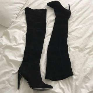 Witchery leather thigh high boots