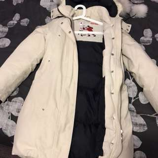 Moose Knuckles parka cream white sz XS
