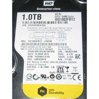 1TB harddisk . Western Digital WD1003FBYZ