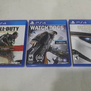 Ps4 Games Star Wars, Call of Duty, Watchdog