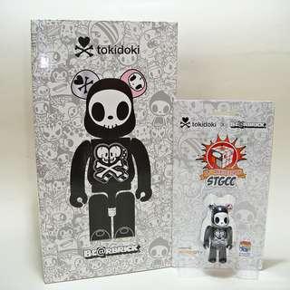 Bearbrick TOKIDOKI Adios 400% + 100% STGCC 10th Anniversary (Singapore Exclusive) Simone Legno Medicom Toy Be@rbrick