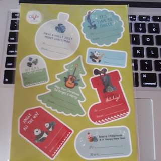 Westgate Christmas Greeting Stickers