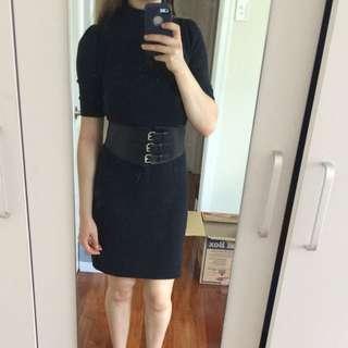 Black office dress-small