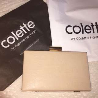 Pinky nude Colette clutch