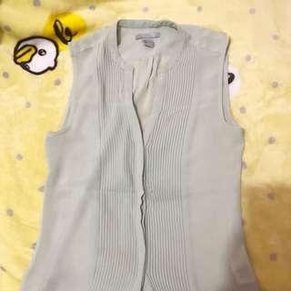 H&M chiffon sleeveless w/plunging neckline