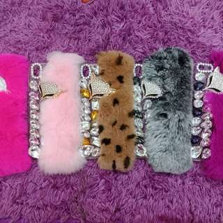 Case Bling bulu bulu cute Oppo F1s