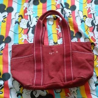 日本製Aguis b紅色麻布袋