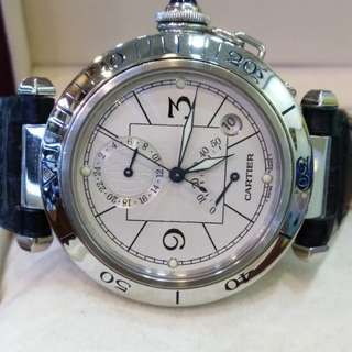 Cartier Pasha Power Reserve automatic with 24 hour indicator