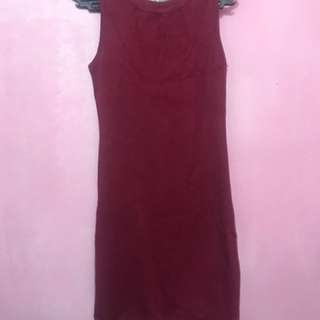 Maroon Bodyhugging Dress